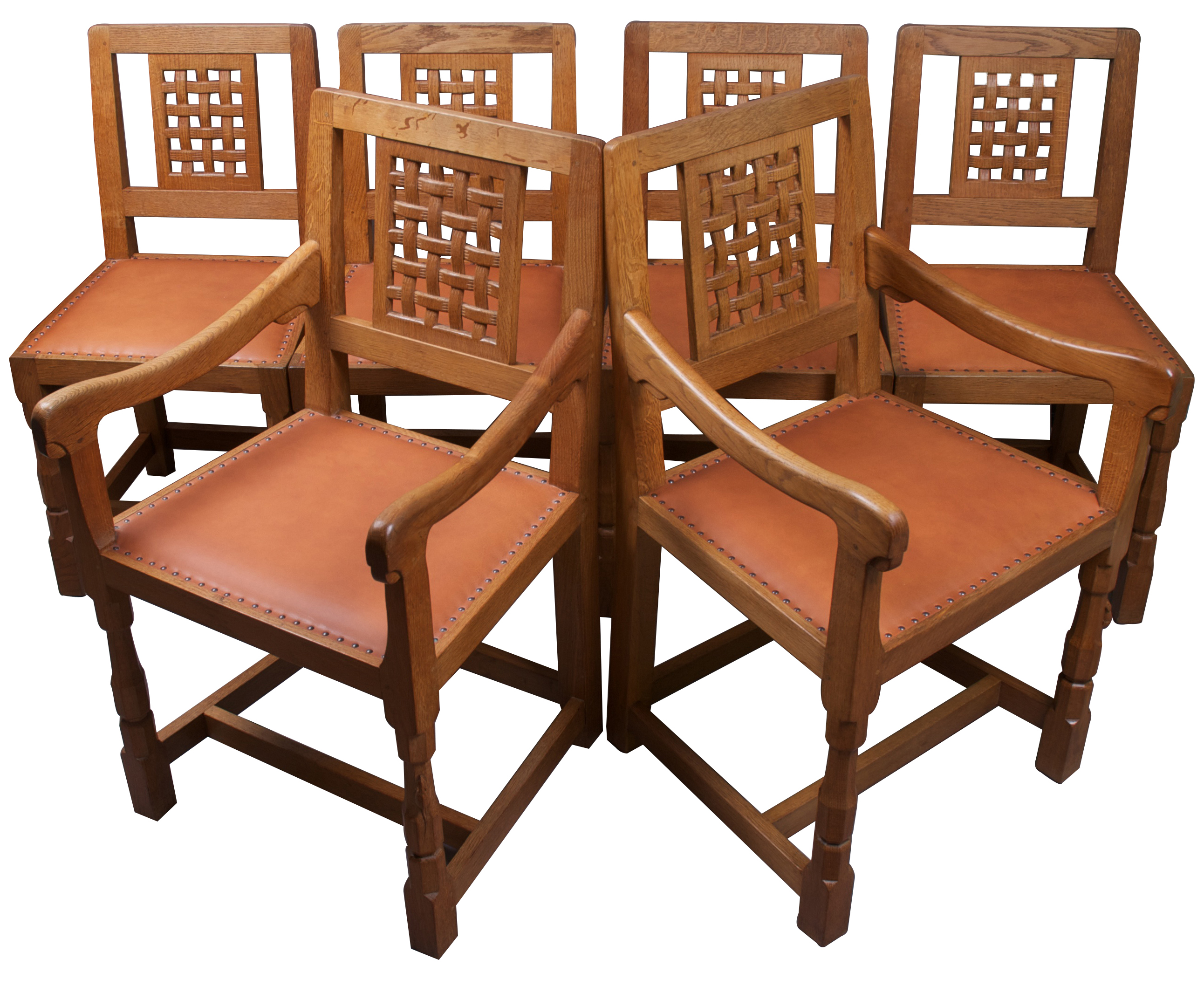 mouseman thompson set of six modern lattice back chairs ingnet