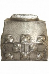 LIBERTY & CO. TUDRIC PEWTER BISCUIT BOX DESIGNED BY ARCHIBALD KNOX