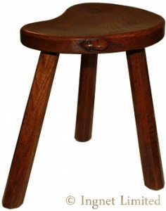 ROBERT MOUSEMAN THOMPSON VINTAGE MILKING STOOL 1