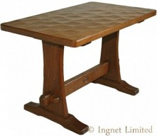 ARTS & CRAFTS YORKSHIRE OAK REFECTORY STYLE COFFEE TABLE BY ACORN INDUSTRIES