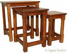 ROBERT MOUSEMAN THOMPSON VINTAGE NEST OF TABLES