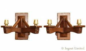 COLIN BEAVERMAN ALMACK PAIR OF TWO BRANCH WALL LIGHT BRACKETS 1