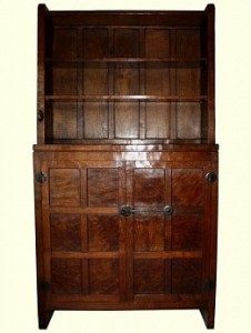 ROBERT MOUSEMAN THOMPSON RARE EARLY BOOKCASE 1