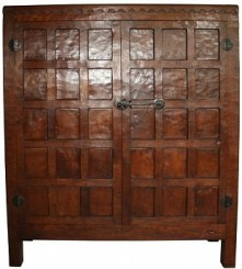 ROBERT MOUSEMAN THOMPSON EARLY ENCLOSED BOOKCASE