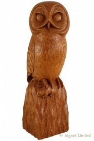 ROBERT MOUSEMAN THOMPSON CARVED OAK OWL