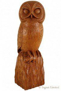 ROBERT MOUSEMAN THOMPSON CARVED OAK OWL 1
