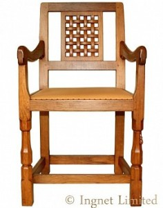 ROBERT MOUSEMAN THOMPSON LATTICE BACK ARM CHAIR 1