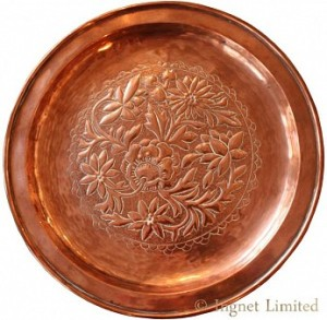 KESWICK SCHOOL OF INDUSTRIAL ARTS COPPER DISH 1