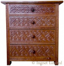 ROBERT MOUSEMAN THOMPSON EARLY CHEST OF DRAWERS