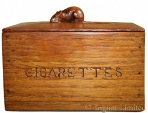 ROBERT MOUSEMAN THOMPSON EARLY RARE CIGARETTES BOX 1