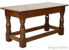 ROBERT MOUSEMAN THOMPSON OAK OBLONG OCCASIONAL TABLE