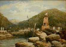 EDWIN ELLIS (1841-1895) FISHING HAVEN