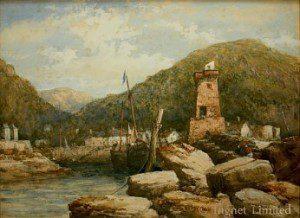 EDWIN ELLIS (1841-1895) FISHING HAVEN 1
