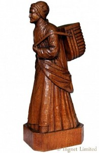 ROBERT MOUSEMAN THOMPSON FISHERWOMAN CARVING 1