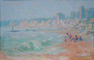JOY PARSONS (1918-2012) BEACH SCENE 1