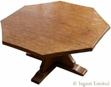 DEREK LIZARDMAN SLATER OF CRAYKE ADZED OAK COFFEE TABLE