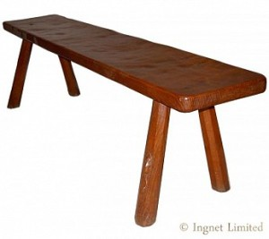ROBERT MOUSEMAN THOMPSON EARLY ADZED BENCH 1