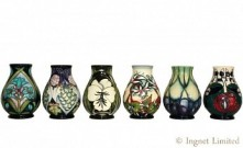 MOORCROFT CONTEMPORARY VASES A GROUP OF SIX