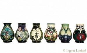 MOORCROFT CONTEMPORARY VASES A GROUP OF SIX 1