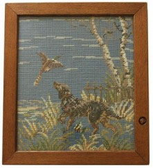 ROBERT MOUSEMAN THOMPSON RARE PICTURE FRAMES WITH HUNTING SCENE AND VILLAGE SCENE