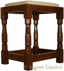 ROBERT MOUSEMAN THOMPSON VINTAGE DRESSING STOOL