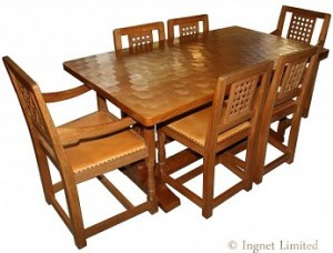 ROBERT MOUSEMAN THOMPSON VERY MODERN 5 FT DINING SUITE 1