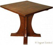 ROBERT MOUSEMAN THOMPSON EARLY ADZED OAK HALL TABLE