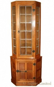 ROBERT MOUSEMAN THOMPSON CORNER DISPLAY CUPBOARD
