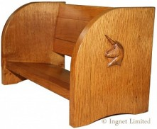UNICORN COXWOLD CABINET MAKERS OF THIRSK SLIDING BOOK TROUGH