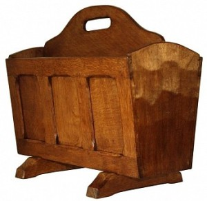 SID POLLARD YORKSHIRE ADZED OAK MAGAZINE RACK 1