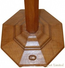 ARTS & CRAFTS YORKSHIRE OAK STANDARD LAMP BY ACORN INDUSTRIES