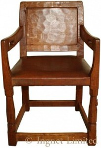 ROBERT MOUSEMAN THOMPSON EARLY CARVER CHAIR 1