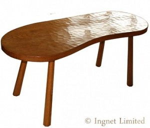 ROBERT MOUSEMAN THOMPSON CLASSIC KIDNEY SHAPED TABLE 1