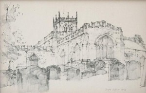 DOUGLAS PITTOCK 1911-1993 ST MARYS CHURCH BARNARD CASTLE 1
