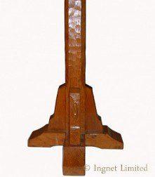 PETER RABBITMAN HEAP OF WETWANG YORKSHIRE ADZED OAK STANDARD LAMP