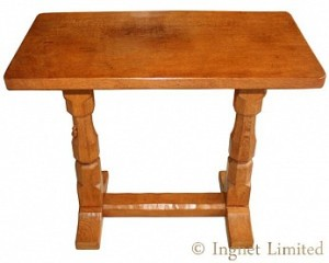 ROBERT MOUSEMAN THOMPSON OAK REFECTORY SIDE or EXTENSION TABLE 1