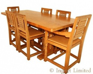 ROBERT MOUSEMAN THOMPSON 6 FT DINING SUITE 1