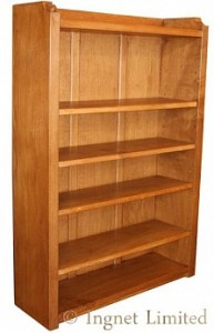 ROBERT MOUSEMAN THOMPSON FOUR FOOT BOOKCASE 1