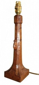 ROBERT MOUSEMAN THOMPSON CLASSIC OAK TABLE LAMP 1