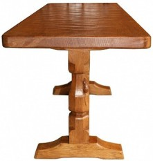 ROBERT MOUSEMAN THOMPSON RARE ADZED FOUR FOOT LONG COFFEE TABLE