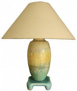 RUSKIN POTTERY CRYSTALLINE GLAZE LAMP 1