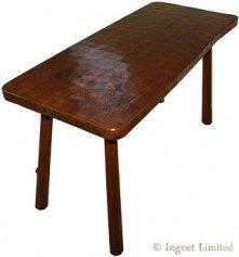 ROBERT MOUSEMAN THOMPSON EARLY ADZED TAVERN TABLE