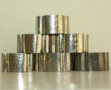 LIBERTY & CO TUDRIC PEWTER NAPKIN RINGS