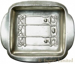 LIBERTY & CO TUDRIC PEWTER PIN TRAY BY ARCHIBALD KNOX 1