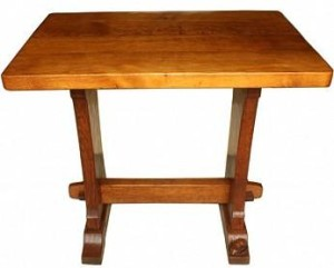 FOXMAN YORKSHIRE ADZED OAK HALL TABLE 1