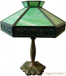 EDWARD MILLER & COMPANY ART NOUVEAU TABLE LAMP