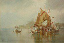 WILLIAM KNOX (1862-1925) VENICE THE LAGOON
