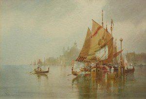 WILLIAM KNOX (1862-1925) VENICE THE LAGOON 1