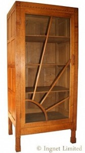 MARTIN DUTTON LIZARDMAN YORKSHIRE OAK DISPLAY CABINET 1