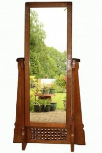 ROBERT MOUSEMAN THOMPSON RARE EARLY CHEVAL MIRROR 1